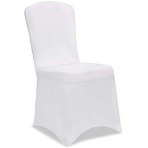 Deuba Stuhlhusse dehnbar, weiß, Stretchhusse für alle gängigen Stühle
