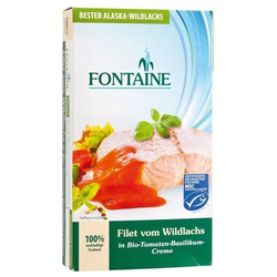 Wildlachs-Filet in Tomaten bio