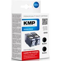 KMP C81D kompatibel zu Canon PGI-525BK schwarz 2er Pack
