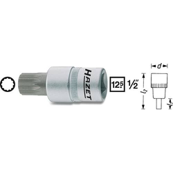 Hazet 990-5 Innen-Vielzahn (XZN) Steckschlüssel-Bit-Einsatz 5mm 1/2  (12.5 mm)