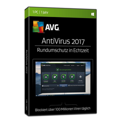 AVG AntiVirus 2017, 1 User, 1 Jahr, BOX