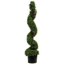 Kunstpflanze Buchsbaumspirale mit Topf, Kunststoff/PVC, Dehner