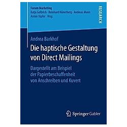 Die haptische Gestaltung von Direct Mailings. Andrea Barkhof  - Buch