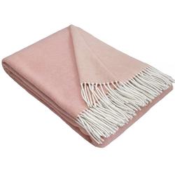 Wolldecke Wohndecke Merinowolldecke Wolldecke Plaid 140 x 200 cm Doubleface in vielen Farben erhältlich, STTS rosa