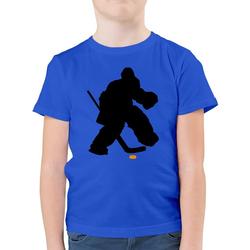 Shirtracer T-Shirt Eishockeytorwart Towart Eishockey - Eishockey - Jungen Kinder T-Shirt - T-Shirts eishockey trikot 140 (9/11 Jahre)