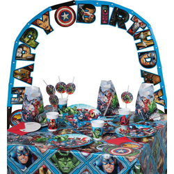 Procos Kindergeschirr-Set Partyset Marvel Avengers Mighty, 50-tlg.