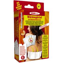 WUNDmed® Wärmetherapie Wärme-Gürtel, Wärmegürtel-Pad zur Linderung bei Rückenschmerzen, 1 Packung = 4 Stück