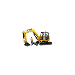Bruder® Spielzeug-Auto BRUDER 2466 Cat Minibagger mit Bauarbeiter 1:16