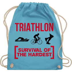 Shirtracer Turnbeutel Triathlon - Survival of the hardest - Sonstige Sportarten - Turnbeutel