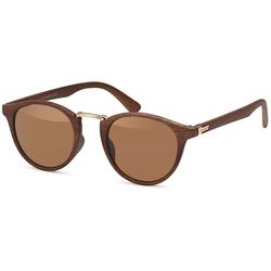 styleBREAKER Sonnenbrille Sonnenbrille Holz Optik Getönt braun