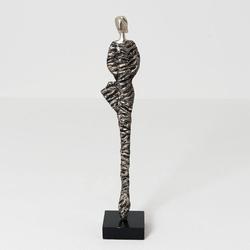 Figur Lisa Aluminium-Holz AntikSilber-Schwarz