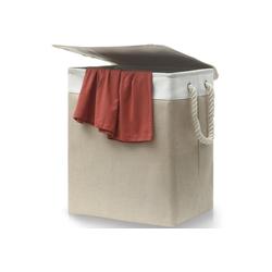 Praknu Wäschekorb Wäschekorb mit Deckel Beige, Mit Tragegriffen - Platzsparend Faltbar - 60 L