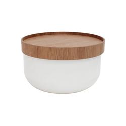 mokebo Couchtisch Die Behüterin, auch als Beistelltisch im skandinavischen Design weiß 50 cm x 30 cm x 50 cm