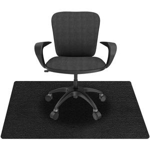 KAZOLEN Bodenschutzmatte für Hartböden, Bürostuhlunterlage, Bodenmatte Stuhlunterlage, Mehrzweck-Stuhlteppich, Bodenschutzmatte für Laminat, Parkett, Fliesen, schwarz (schwarz 90 x 140 cm)