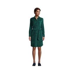 Blusenkleid aus Cord, Damen, Größe: L Normal, Grün, by Lands' End, Jade Smaragd - L - Jade Smaragd