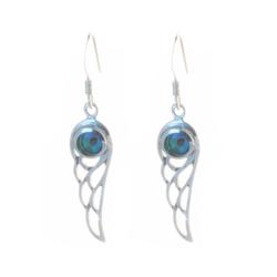 Bella Carina Paar Ohrhänger Ohrringe mit Abalone Engels Flügel, Engelsflügel