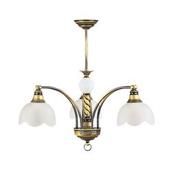Licht-Erlebnisse Deckenleuchte TOBSYN Jugendstil Deckenleuchte Messing Metall Wohnzimmer Esszimmer Lampe