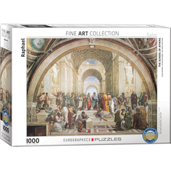 empireposter Puzzle Raffael - Die Schule von Athen - 1000 Teile Puzzle - Format 68x48 cm, 1000 Puzzleteile