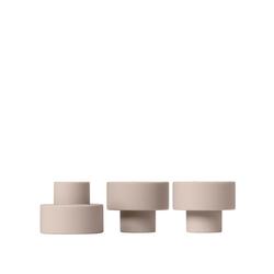 BLOMUS Kerzenhalter TRIO Set 3 Kerzen- und Teelichthalterb rose dust