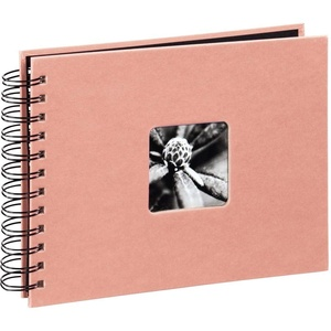 Hama Spiralalbum Fine Art, 24 x 17 cm, 50 Schwarze Seiten, Living Coral