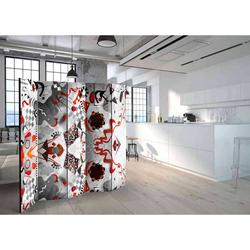 Raumtrenner Paravent mit abstraktem Muster 225 cm breit