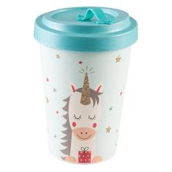 PFIFF Coffee-to-go-Becher Bambus-Becher TravelMug 'Dreaming Unicorn', recyclebar