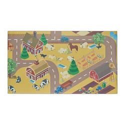 relaxdays Spielteppich Bauernhof grün/bunt 140,0 x 80,0 cm