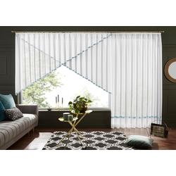 Kuvertstore Eby, my home, Kräuselband (1 Stück), Gardine, Fertiggardine, transparent grau 300 cm x 120 cm