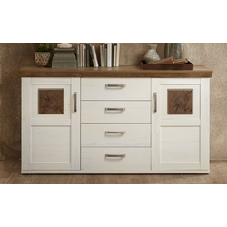 Vito Sideboard 1042 in weiß / Haveleiche-Optik