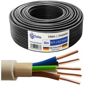 OKSI 10m NYY-J 5x2,5 mm2 Erdkabel Elektrokabel Beton und Freien Kupfer Made in Germany