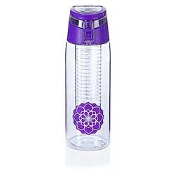 Trinkflasche mit Infuser  750ml (Farbe: lila)