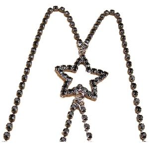TININNA Damen Frauen Stern Strass Diamant Rückenfrei Rückenkonverter BH-Träger BH-Verlängerer BH Verlängerung schwarz EINWEG Verpackung