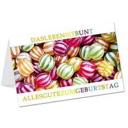 LUMA Geburtstagskarte Bonbons DIN B6