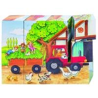 GoKi Würfelpuzzle Jahreszeiten auf dem Bauernhof