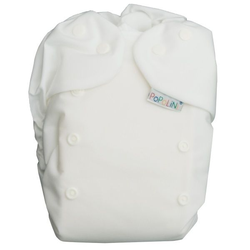 Popolini EasyFix Pocket Weiß Stoffwindeln 3-15kg Stay-Dry