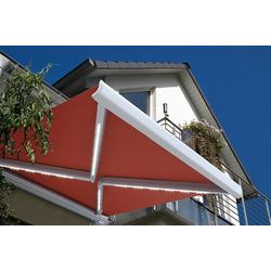 HOME DELUXE Markise ELOS LED Vollkassettenmarkise rot 500 cm x 300 cm