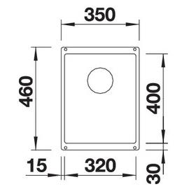 Blanco Subline 320-U perlgrau + Handbetätigung + InFino