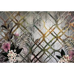 Consalnet Papiertapete Goldenes Motiv/Blumen, floral 3,68 m x 2,54 m