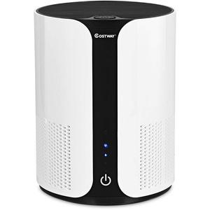 COSTWAY Luftreiniger, Air Purifier mit 3 Geschwindigkeiten, Desktop-Luftfilter 3-Stufen-Filterung, Raumluftfilter Zuhause oder Buero