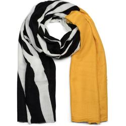 styleBREAKER Schal Schal mit Zebra Muster und Fransen Schal mit Zebra Muster und Fransen gelb