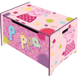 Peppa Pig Aufbewahrungsbox Spielzeugtruhe aus Holz, Peppa Pig