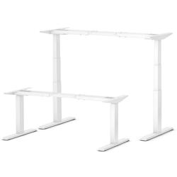 bümö Schreibtisch OM-670SL, Schreibtischgestell DIY elektrisch höhenverstellbar - Farbe: Weiß weiß