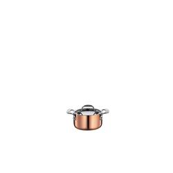 Spring Bratentopf Fleischtopf mit Deckel CULINOX, Edelstahl, Kupfer, (1-tlg), Fleischtopf 0.35 l - Ø 9 cm x 4.8 cm