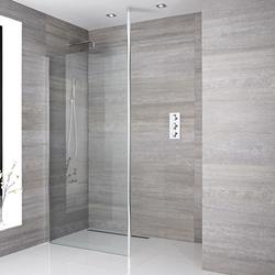 Walk-in Dusche, Größe von Glasscheibe und Ablauf wählbar - Sera