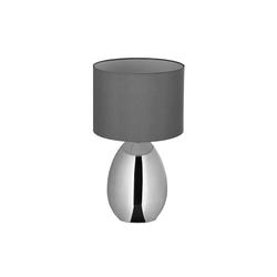relaxdays Nachttischlampe Nachttischlampe Touch silber groß