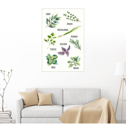 Posterlounge Wandbild, Gewürzpflanzen 61 cm x 91 cm
