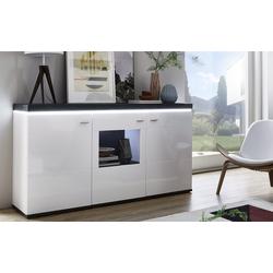 Ideal-Möbel Sideboard Karajol in weiß Hochglanz