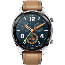 Huawei Watch GT edelstahl / braun