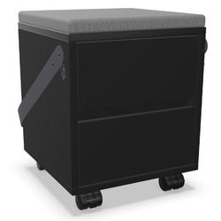 Palmberg Rollcontainer ORGA PLUS Sitzhocker FIFFI in Schwarz