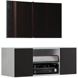 VCM my media TV-Lowboard Jusa 95 weiß, schwarz
